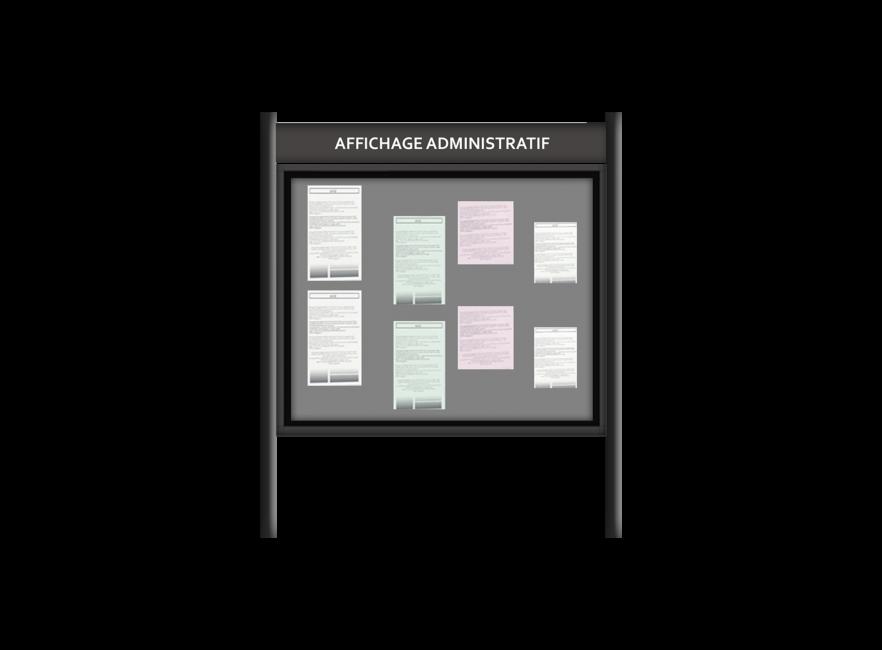 Affichage administratif bi-pied
