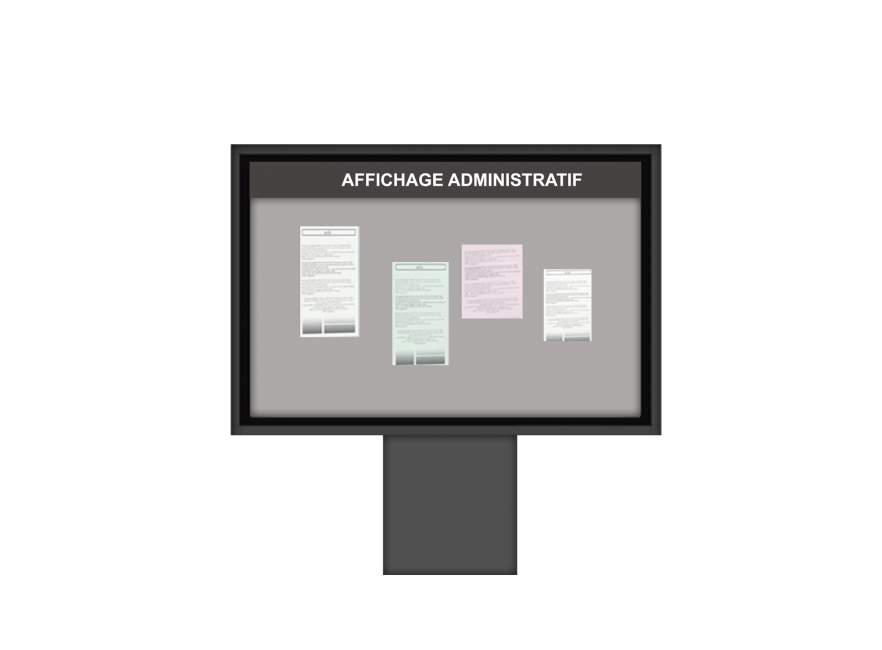 Affichage Administratif monopied